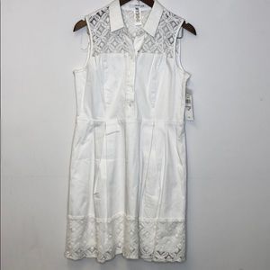 Studio One White Dress New With Tags 12P